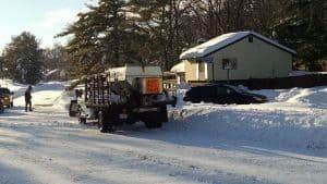 VDOT Snowplow in Sugarland Run