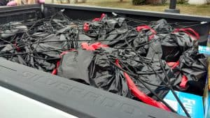 Literally, a truck-load of toys for Toys for Tots donated by Sugarland Run residents.