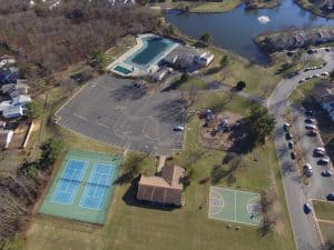 Community Center, Office, Tennis Courts, Basketball Court, & Pool